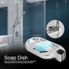 Latest Soap Dish Adjustable Shower Rail Slide Soap Plates Smooth Bathroom Holder