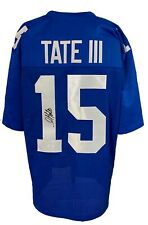 Golden Tate Signed Pro Style Blue Jersey JSA Authenticated