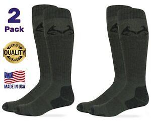 Realtree Mens Ultra-Dri Outdoor Tall Boot Over the Calf Socks Elimishield 2 Pair