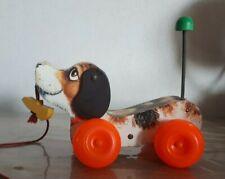 Ancien jouet chien à tirer Fisher Price Toys Little Snoopy vintage 1965