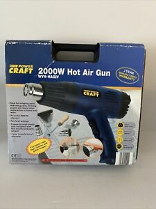 Power Craft Hot Air Gun - 2000W Complete With Attachments - Fully Working - Used