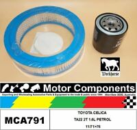 FILTER SERVICE KIT for TOYOTA CELICA TA22 2T 1.6L PETROL 11/71>76