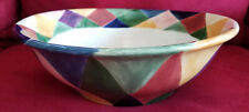 New Serving Bowl, Tabletops Unlimited, Carnival, Harlequin Pattern