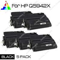 5 Pack Compatible Q5942X 42X Toner For HP LaserJet 4250 4350 4250n 4350n 4350dtn