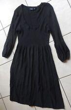 FRANSA Robe manches longues noire M