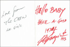 "Ettore ""Ted"" Degrazia - Autograph Note Signed 1973"