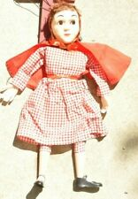 Vintage 1950's RED RIDING HOOD by Hazelle's  Marionette/Puppet