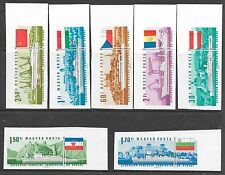 HUNGARY SC 1828-34 NH imperf issue of 1967 - SHIPS. Sc$250