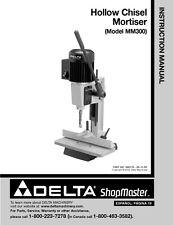 Delta Shopmaster MM300 Hollow Chisel Mortiser Instruction Manual