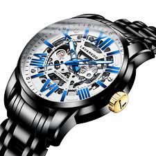 Men's Watch Fashion Mechanical Automatic Stainless Steel Skeleton Waterproof