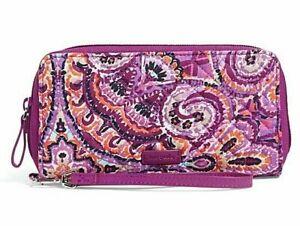 Vera Bradley Iconic RFID Accordion Wristlet Wallet in purple DREAM TAPESTRY
