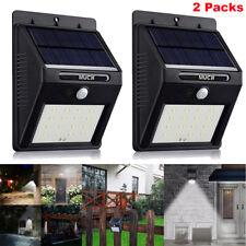 2x 16 LED Solar Power PIR Motion Sensor Wall Lights Outdoor Garden Security Lamp