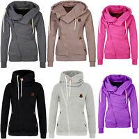 New Women Winter Casual Hooded Slim Coat Jacket Warm Sportwear Outwear S-XXL