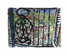 Bob Dylan, Iron Railing, Ltd. Ed. giclee, hand signed and numbered