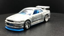 Factory Prototype Barbie Skin Blue Hot Wheels Nissan Skyline GT-R BNR34 🔥 🇺🇸