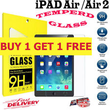 2PC 9H Genuine Tempered Glass Screen Protector For Apple iPad AIR 1 AIR 2