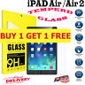 2PC 9H Genuine Tempered Glass Screen Protector For Apple iPad Air 1/2 iPad 5/6