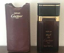 Parfum Must de Cartier with Original Leather Pouch, Vintage, 15 ml