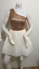 Asos Sequins One Shoulder Dress Size 8UK, With Tag