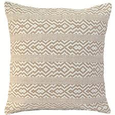 """Kilim Beige Cream Cushion Cover Cotton Indian Handmade 20""""x20"""" Sofa Pillow"""