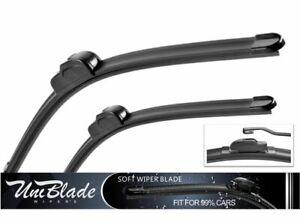 "Suzuki Ignis  2000-2008 front windscreen wiper blades with spoiler 19/"" 18/"""