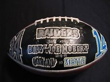 "Billy Joe Hobert Oakland Raiders Game Ball vs. Seahawks 10/08/95 ""RARE"""