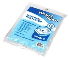 2x Wrap & Move Single Mattress Protector Cover 2250x1200x250mm Clear *Aust Brand