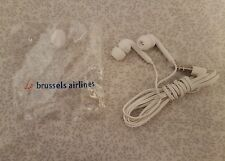 NEW Brussels Airlines White In-Ear Earphones