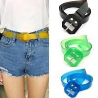 Fashion Transparent Multicolor Belt Slim Waist Belt Wild Waist Accessories Belt