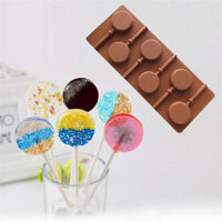 Silicone Lollipop Cake Chocolate Soap Pudding Jelly Candy Cookie Mold LY