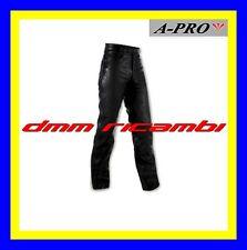 Pantaloni A-PRO Split Jeans 5 Tasche in Pelle Tg.50(36) moto custom nero APRO