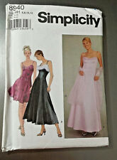 Simplicity Sewing Pattern 8940 Evening Gown Prom Dress Sz HH 6 8 10 12 NEW Uncut