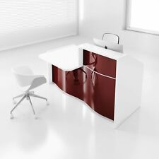 Wave 70 Reception Desk With Counter Top