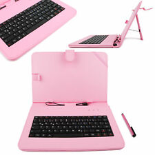 Pink German QWERTZ Keyboard Case with Stand for Samsung Galaxy Tab 3 10.1