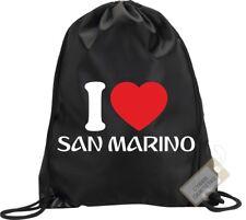 I Love San Marino Backpack Bag Gym Handbag Sport Man Woman
