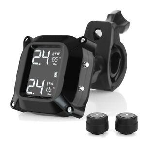 LCD Screen Tire Pressure & Temperature Monitoring System &2PCS External Sensor