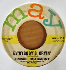 JIMMY BEAUMONT - EVERYBODY'S CRYIN' b/w CAMERA - MAY 45 - 1961