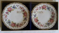 PAIR of ROYAL GRAFTON TRINKET PIN condiment  DISHES / PLATES 12cm -  NEW BOXED
