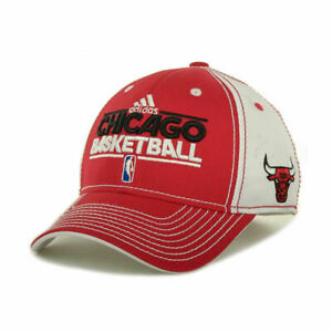 Chicago Bulls Basketball NBA Adidas Authentic Official Practice Hat Cap Men's LX