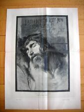 Incisione enorme - Testa di Cristo, quadro di Domenico Morelli