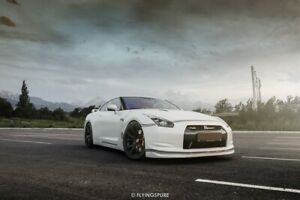 NISSAN GTR R35 OEM front bumper with all grids And X2 grilles