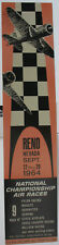 Original 1964 Reno Air Race Poster, New Old Stock