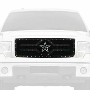 For Ford F-150 09-14 RBP 1-Pc RX-2 Series Black Dual Weave Mesh Main Grille