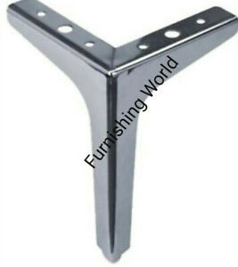 4 x silver super replacement LEGS / FEET for uk FURNITURE sofas,stools,table,bed