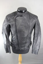 CLASSIC BLACK LEATHER BIKER JACKET 40 INCH
