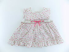 RARE EDITION $36 WHITE PINK BABY GIRLS SIZE 24M DRESS One-Piece 100% COTTON M07