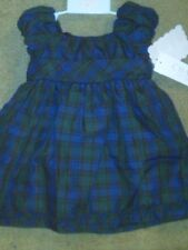 NWT $44 INFANT GIRLS FANCY DRESSY DRESS BY CHAPS PURPLE & GREEN PLAID 9 MONTHS