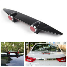 Black ABS Car Decoration Mini Double Lamp Small Airplane Bumper Empennage Model