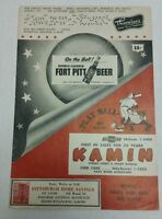 1955 PITTSBURGH PIRATES vs CINCINNATI REDLEGS Scored Scorecard Clemente RC Year