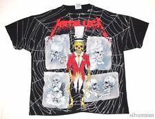 METALLICA Vintage T Shirt 90's Tour Concert 1992 PUSHEAD RINGMASTER Allover L/XL